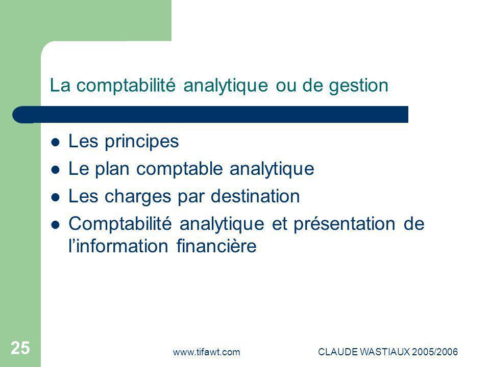 La comptabilité analytique ou de gestion