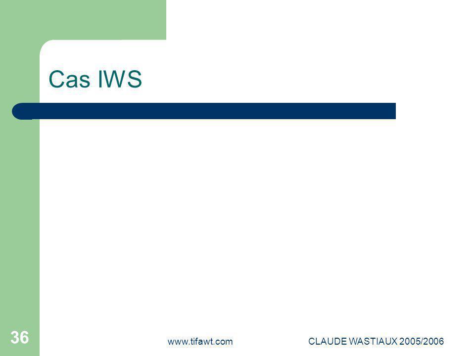 Cas IWS www.tifawt.com CLAUDE WASTIAUX 2005/2006