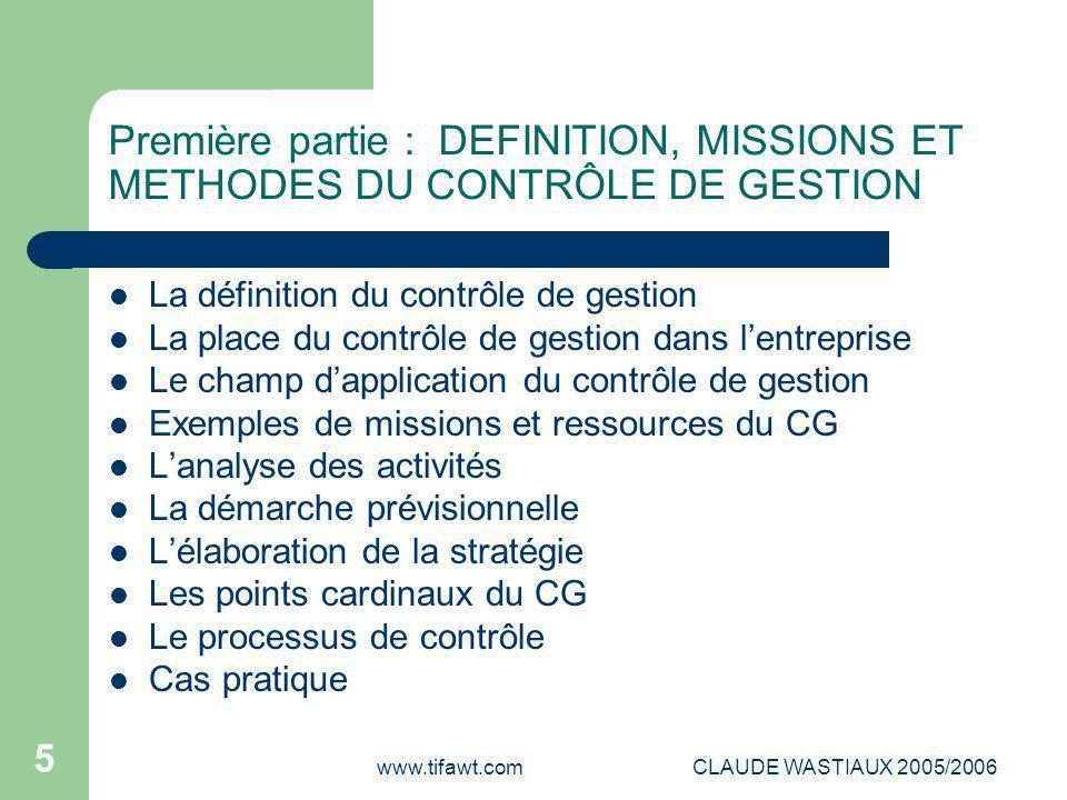 LE CONTRÔLE DE GESTION UNIVERSITE PARIS II