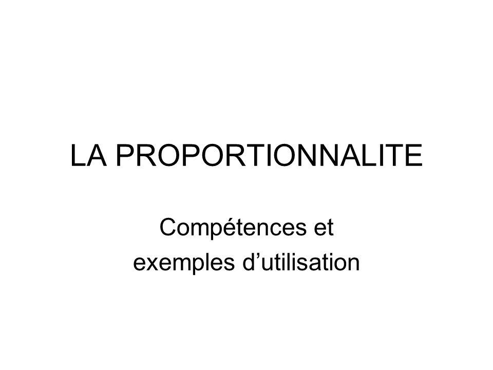 Compétences et exemples d'utilisation