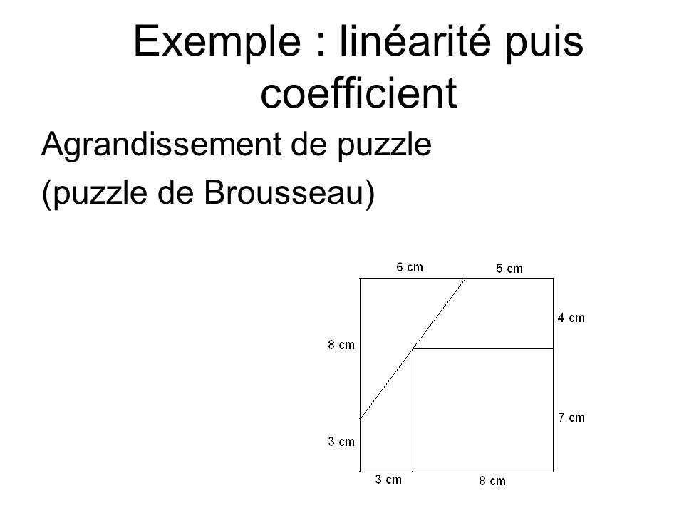 Exemple : linéarité puis coefficient