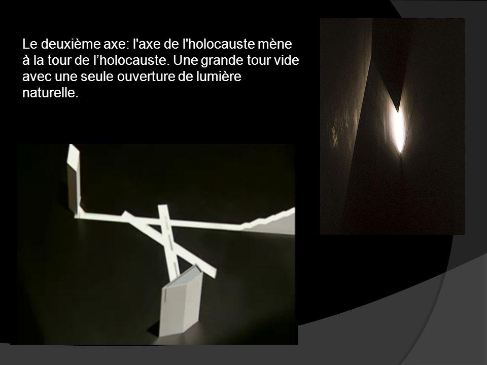 Le deuxième axe: l axe de l holocauste mène à la tour de l'holocauste