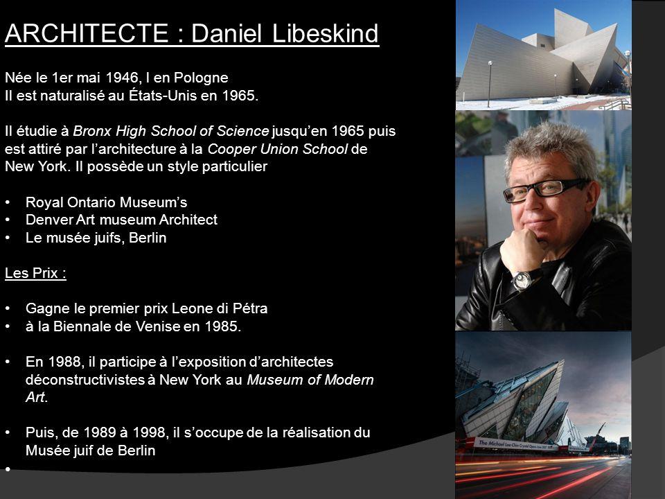 ARCHITECTE : Daniel Libeskind