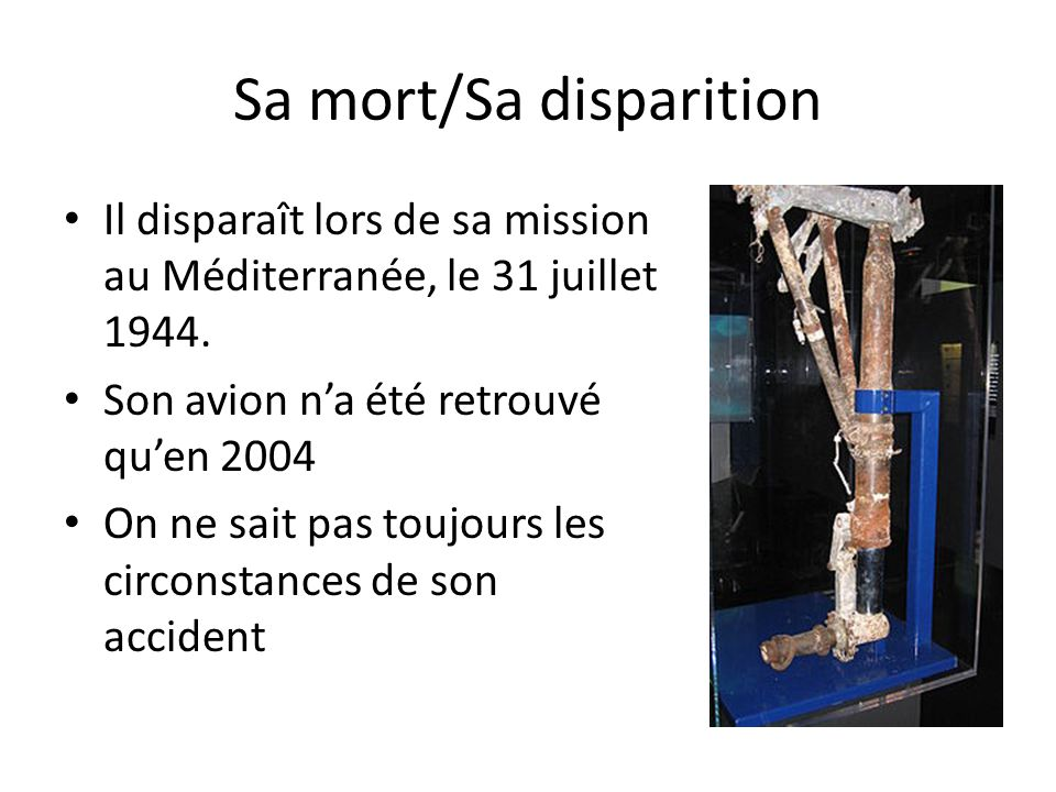 Sa mort/Sa disparition