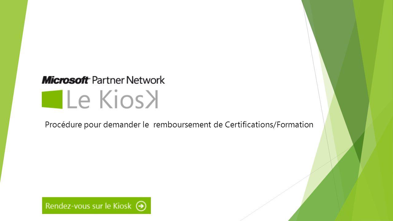 Procédure pour demander le remboursement de Certifications/Formation