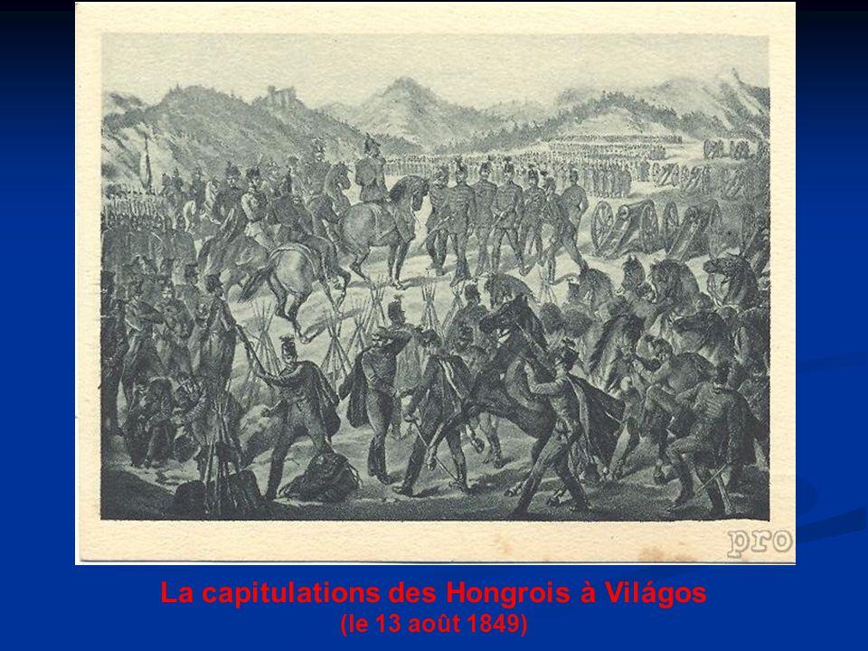 La capitulations des Hongrois à Világos