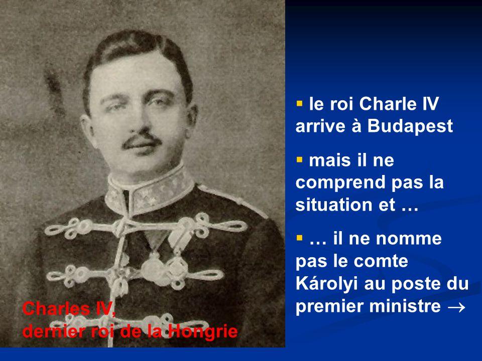 le roi Charle IV arrive à Budapest