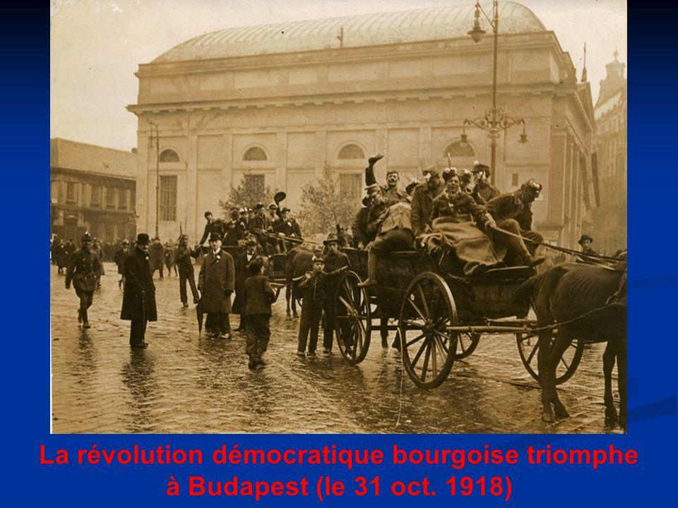 La révolution démocratique bourgoise triomphe