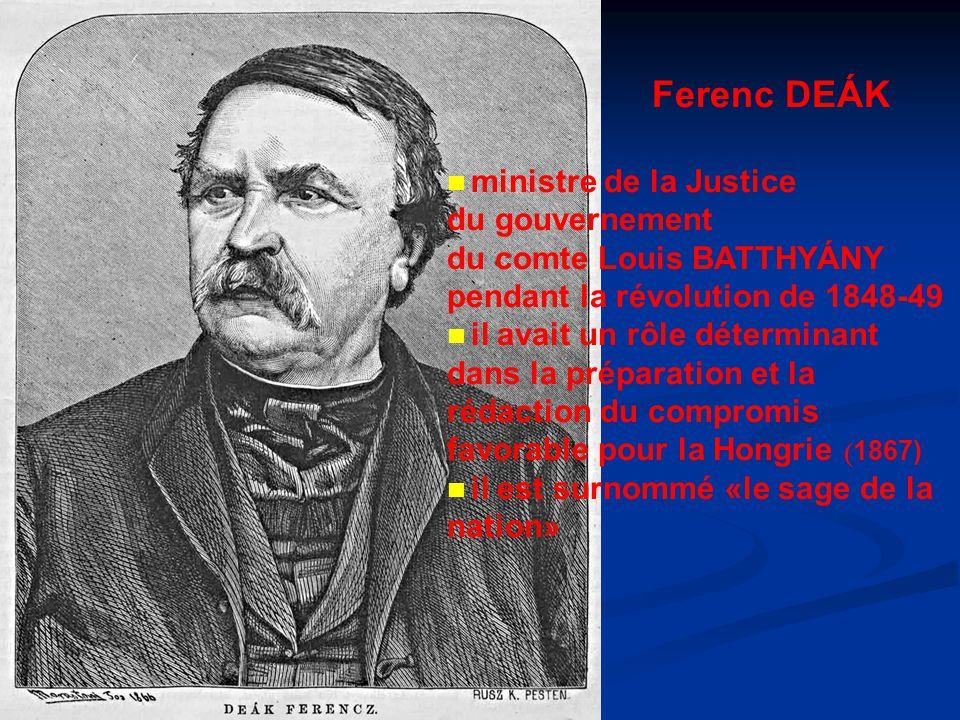 Ferenc DEÁK du gouvernement