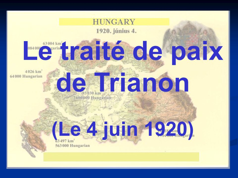 Le traité de paix de Trianon