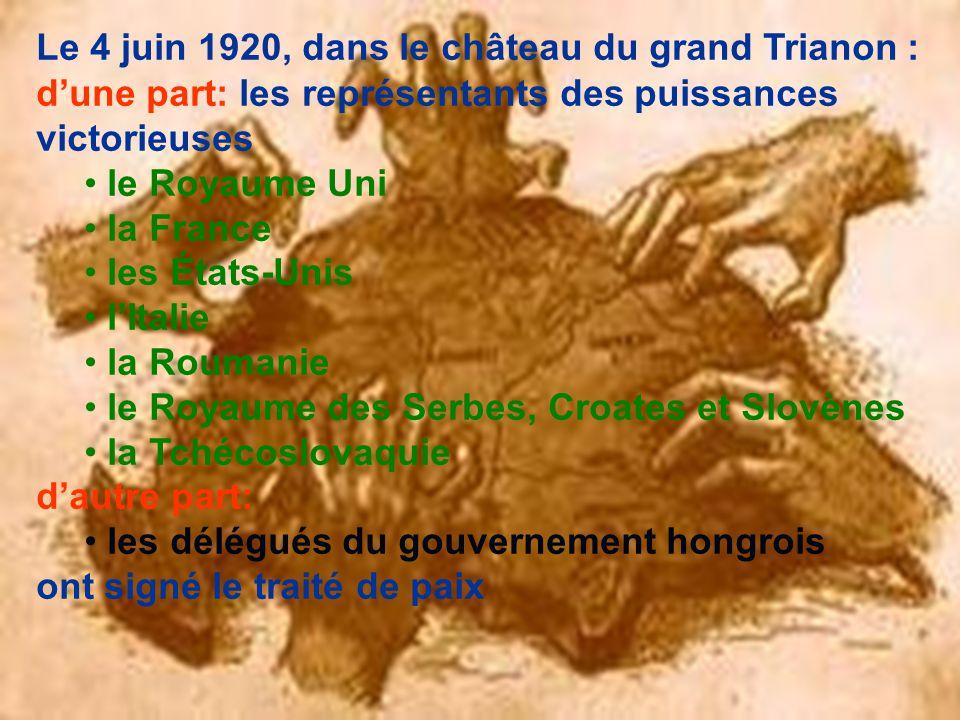 Le 4 juin 1920, dans le château du grand Trianon :