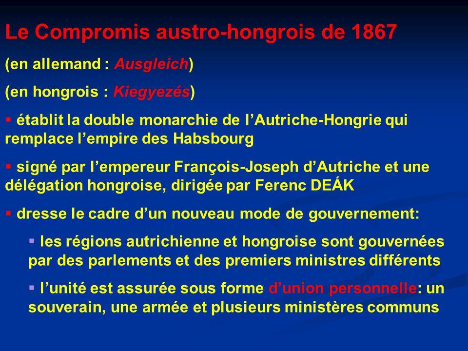 Le Compromis austro-hongrois de 1867