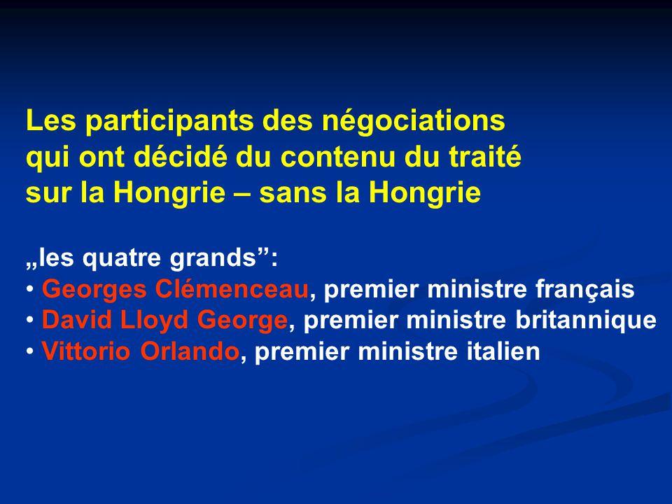 Les participants des négociations qui ont décidé du contenu du traité