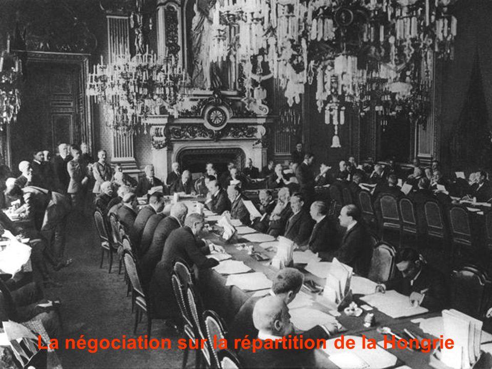 La négociation sur la répartition de la Hongrie