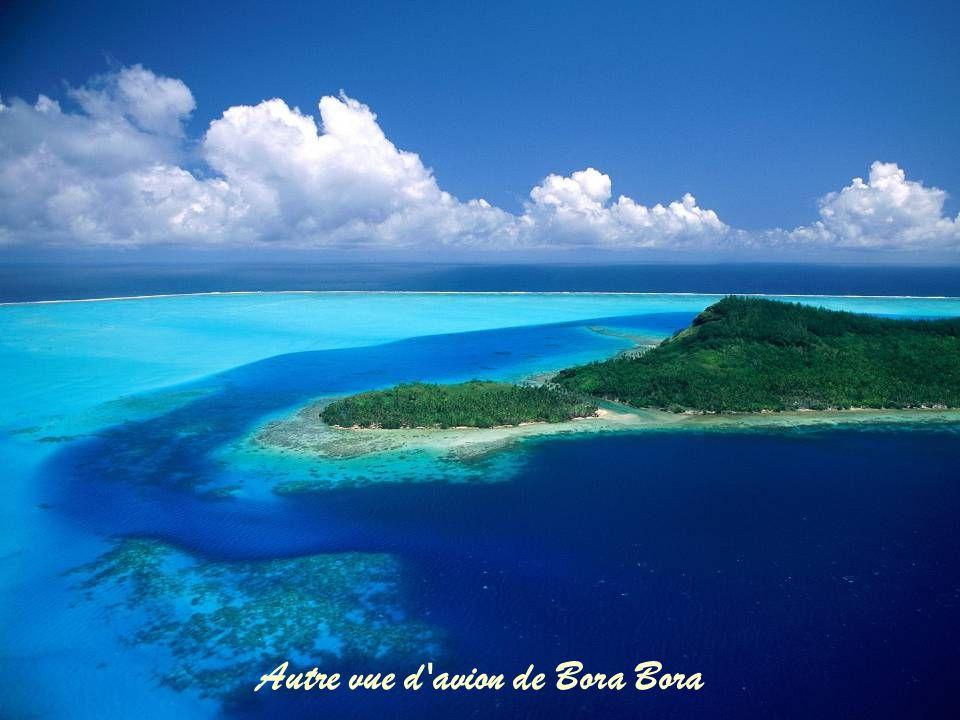 Autre vue d avion de Bora Bora