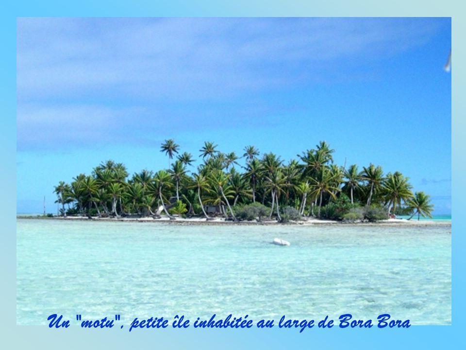 Un motu , petite île inhabitée au large de Bora Bora