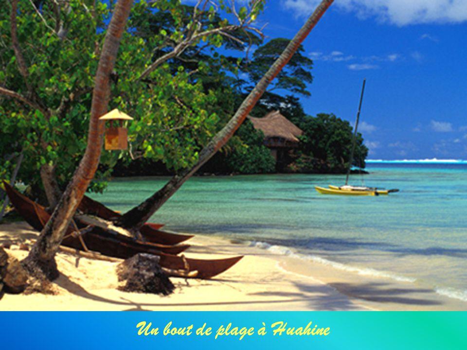 Un bout de plage à Huahine