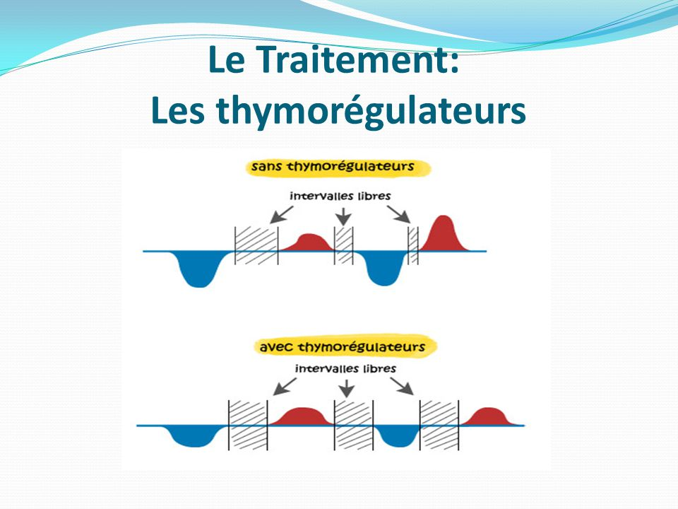 Le Traitement: Les thymorégulateurs
