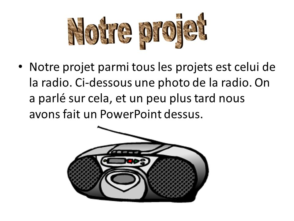 Notre projet