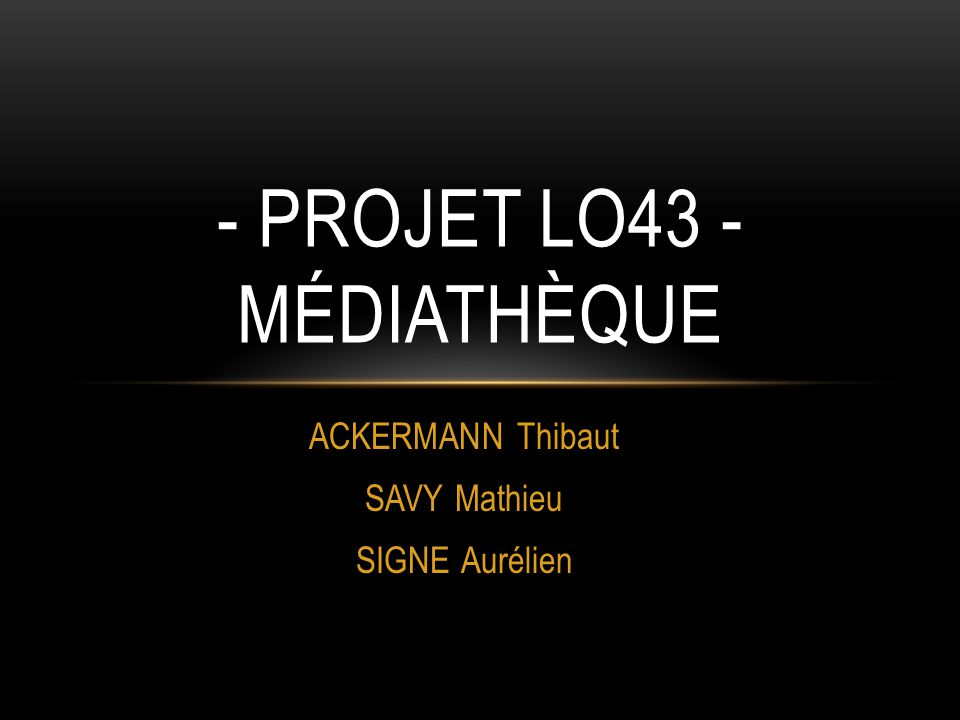 - Projet LO43 - Médiathèque