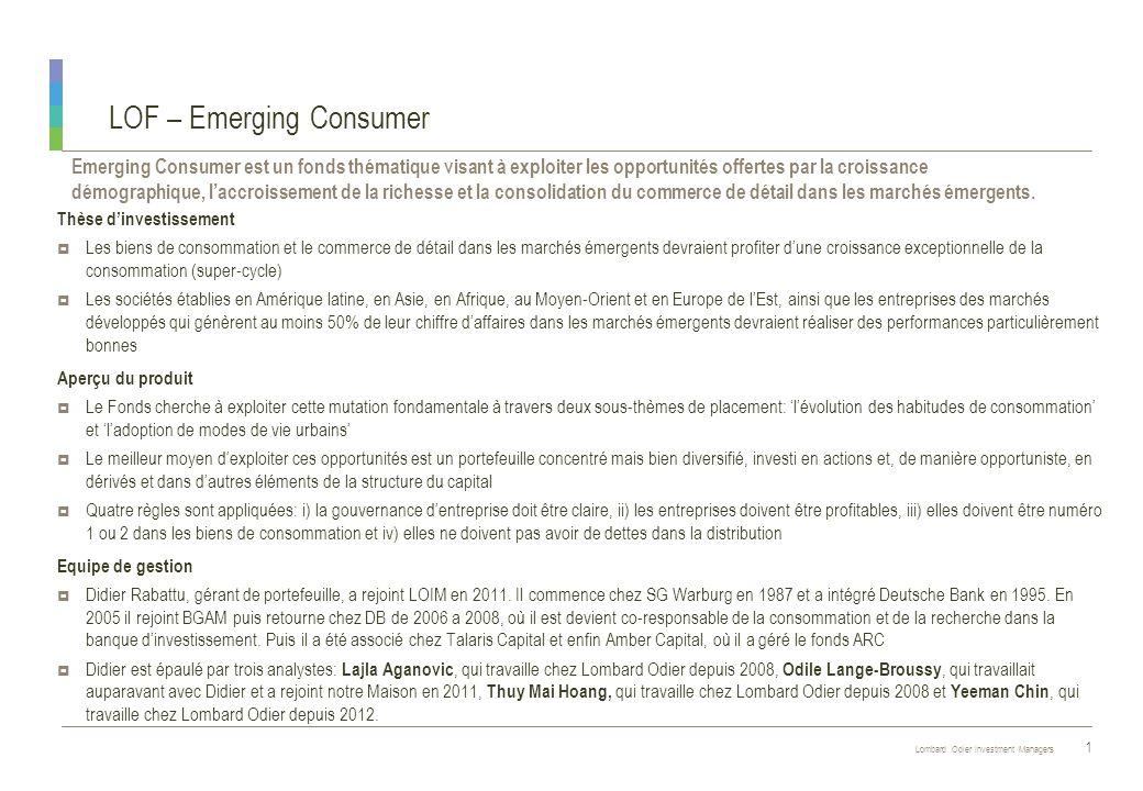LOF – Emerging Consumer