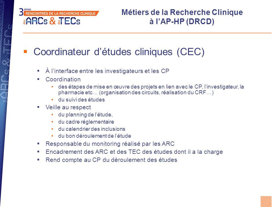 Métiers de la Recherche Clinique à l'AP-HP (DRCD)