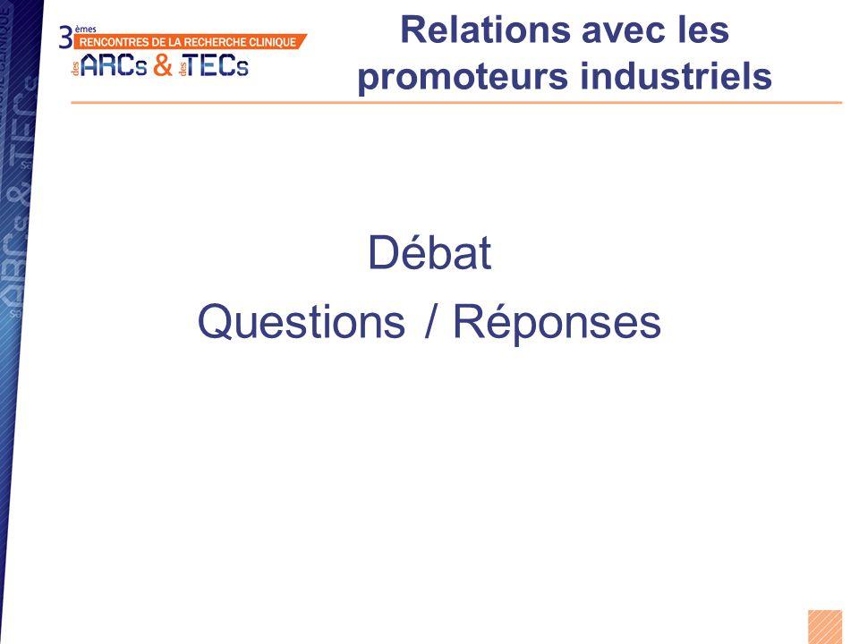 Relations avec les promoteurs industriels