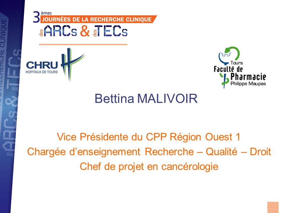 Bettina MALIVOIR Vice Présidente du CPP Région Ouest 1