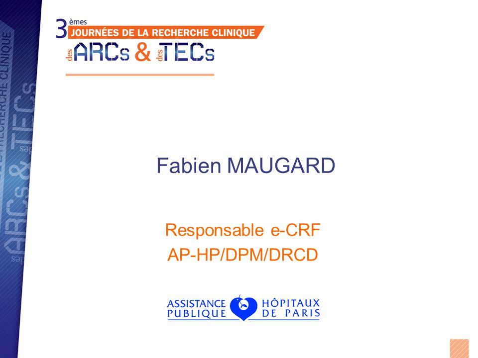 Responsable e-CRF AP-HP/DPM/DRCD