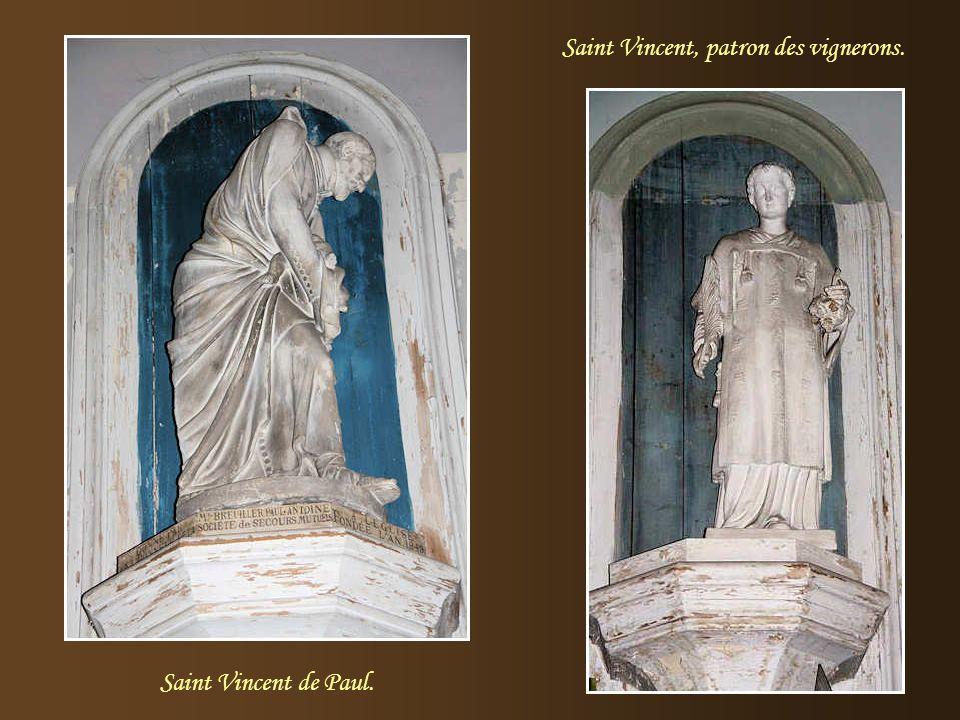 Saint Vincent, patron des vignerons.