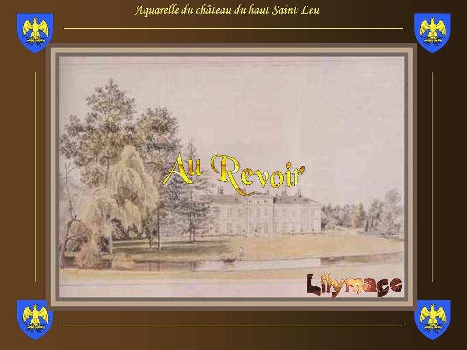 Aquarelle du château du haut Saint-Leu