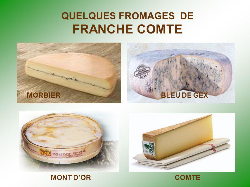 QUELQUES FROMAGES DE FRANCHE COMTE