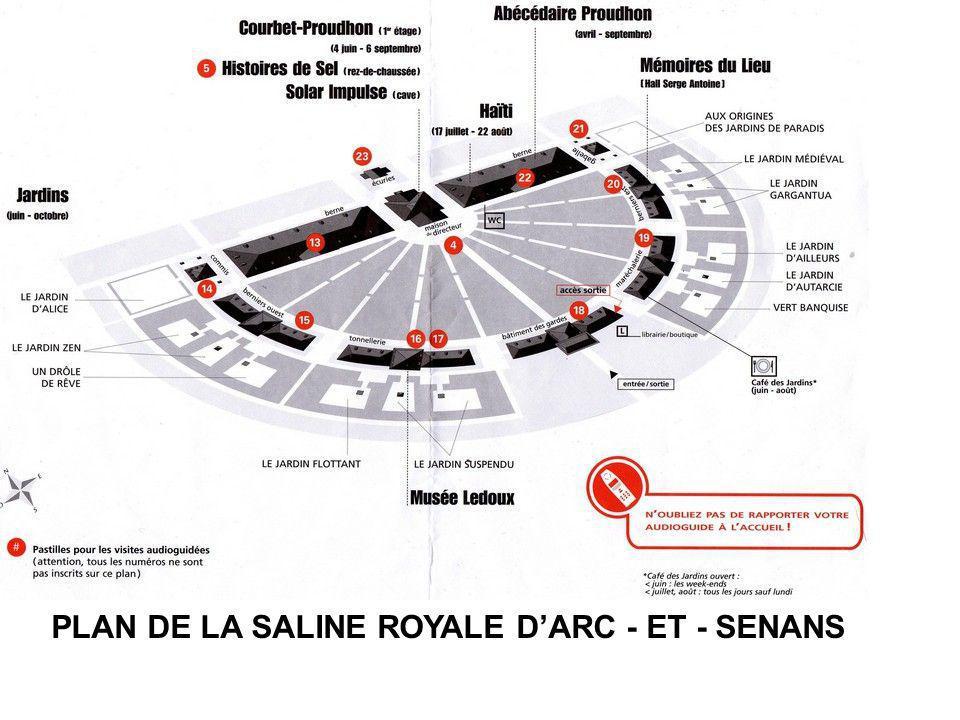 PLAN DE LA SALINE ROYALE D'ARC - ET - SENANS