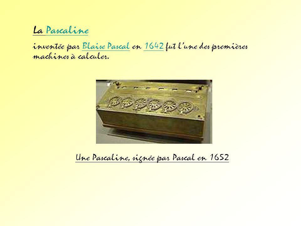 La Pascaline inventée par Blaise Pascal en 1642 fut l'une des premières machines à calculer.