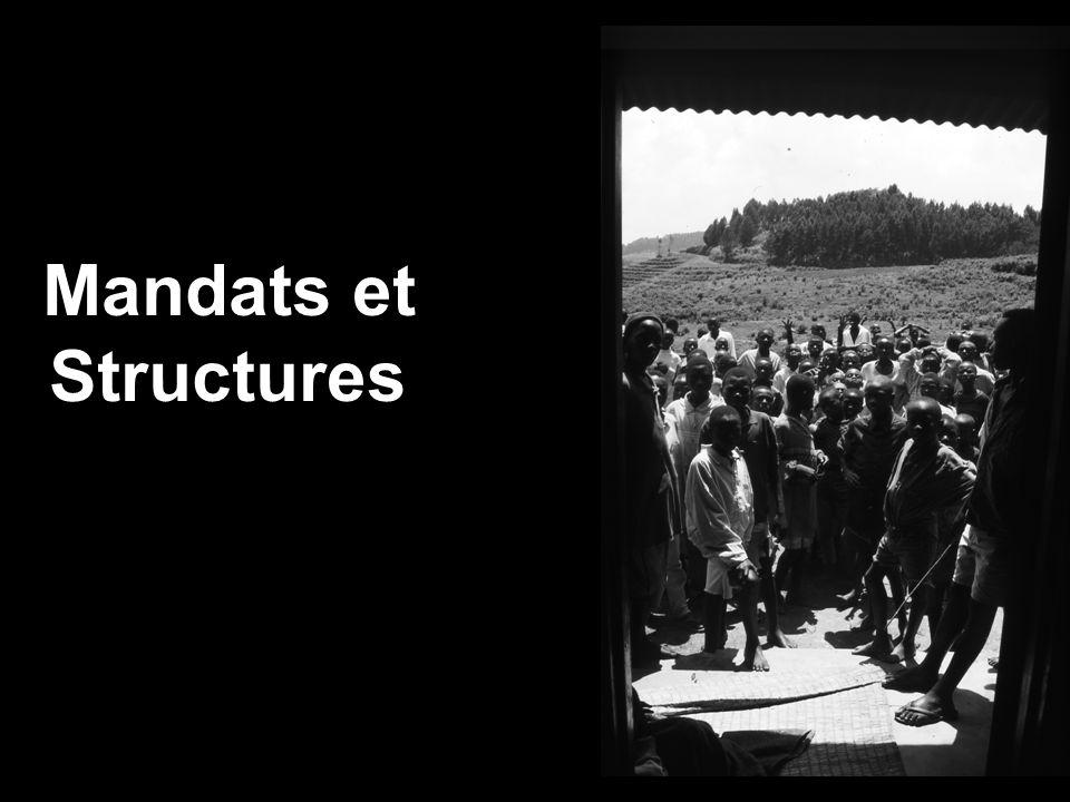Mandats et Structures