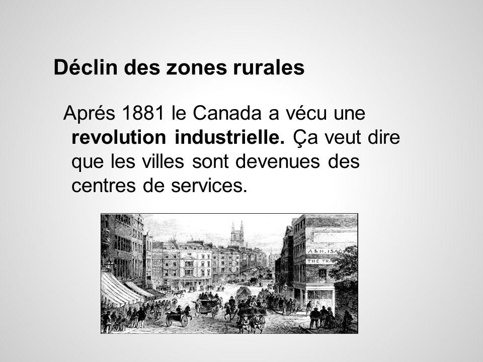 Déclin des zones rurales