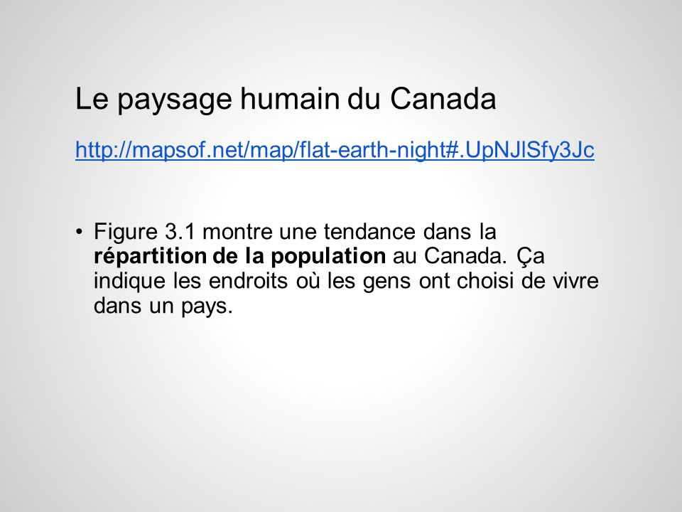 Le paysage humain du Canada