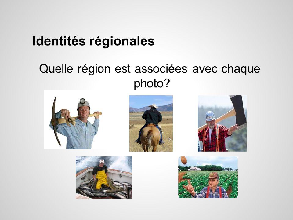 Quelle région est associées avec chaque photo