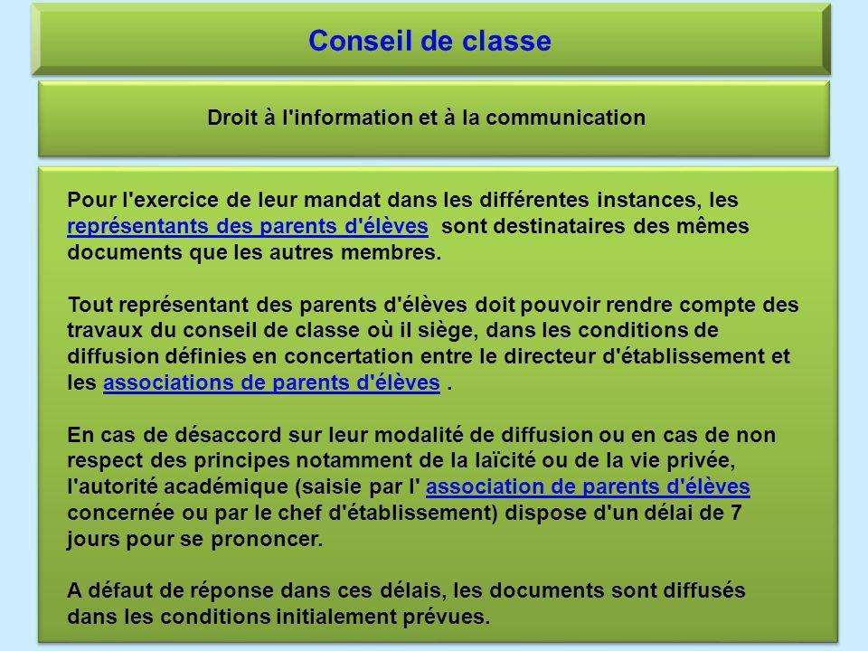 Droit à l information et à la communication