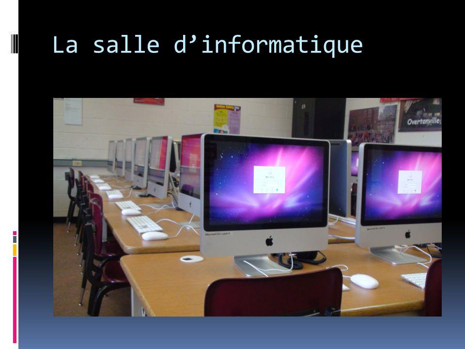 La salle d'informatique