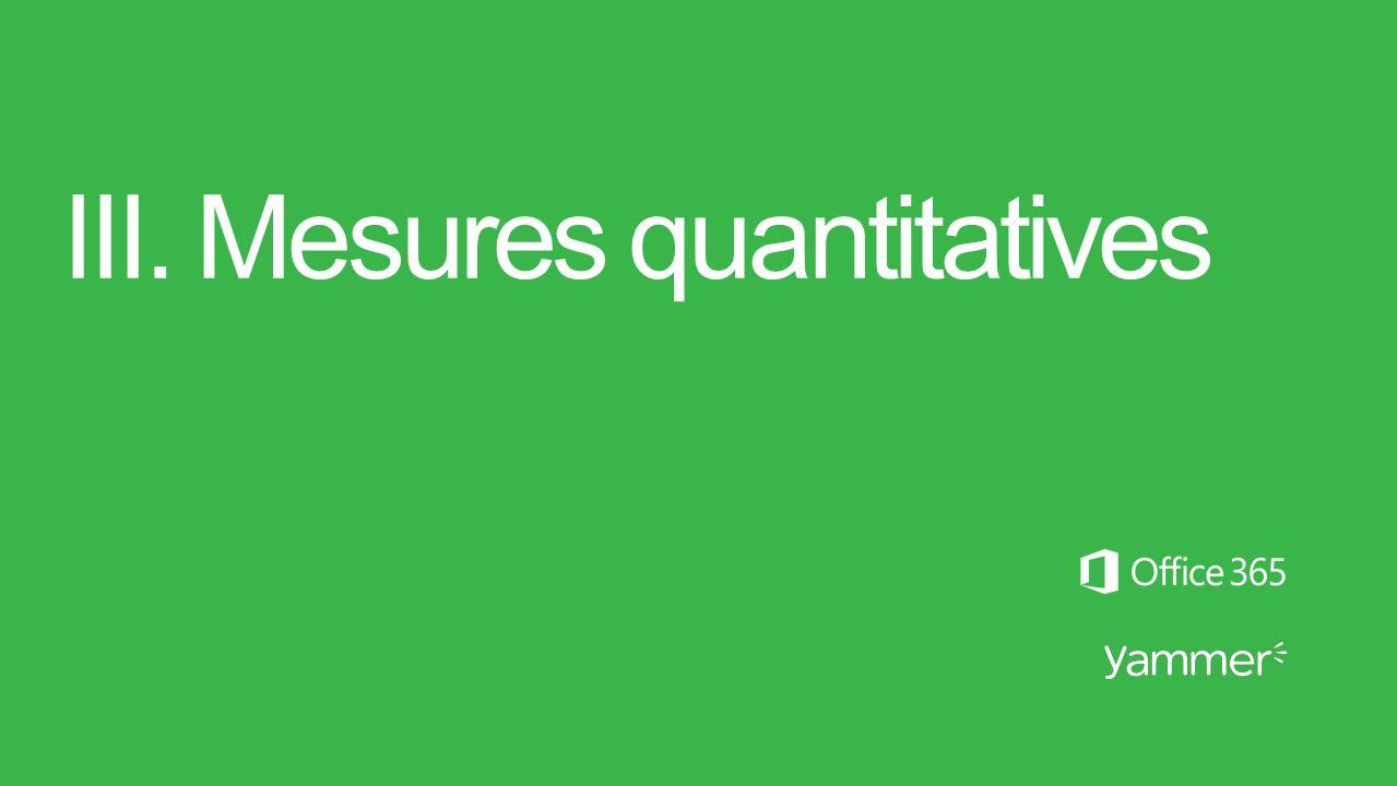 III. Mesures quantitatives