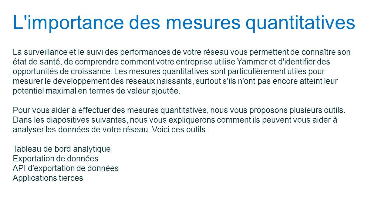 L importance des mesures quantitatives