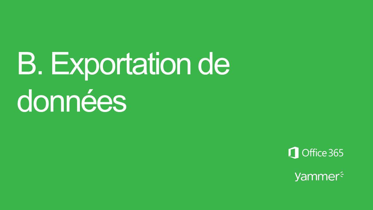 B. Exportation de données
