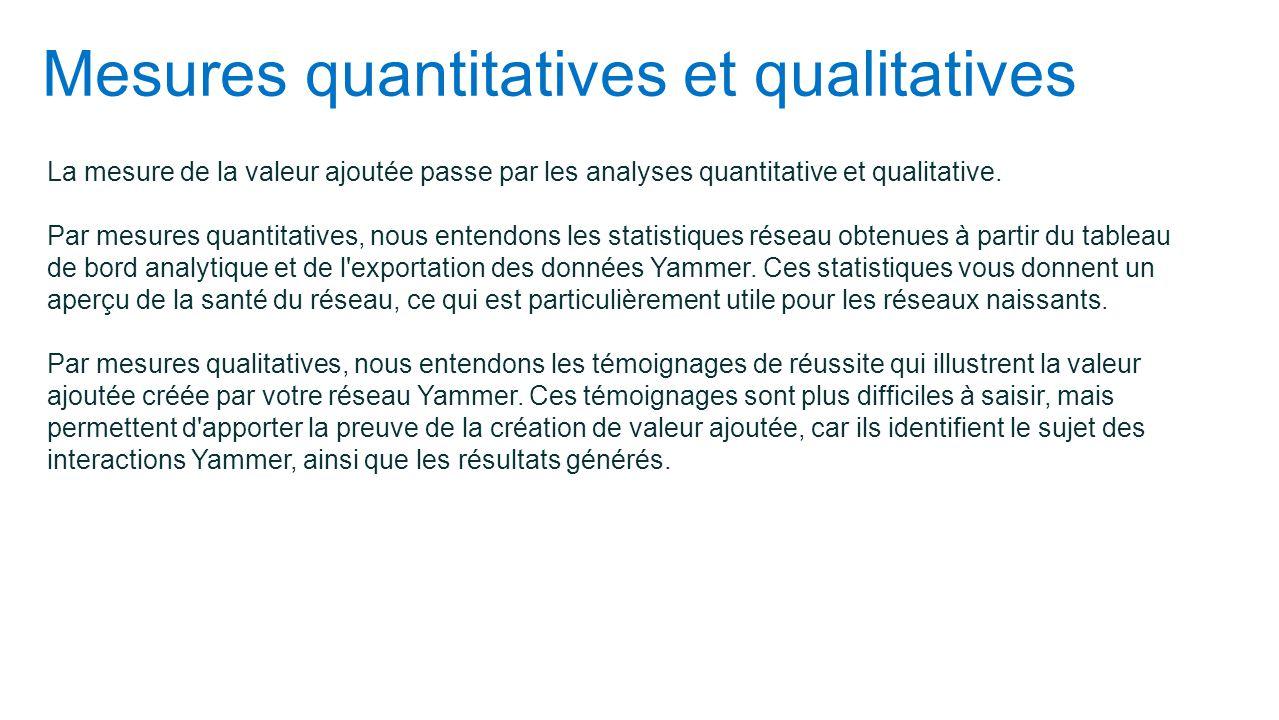 Mesures quantitatives et qualitatives