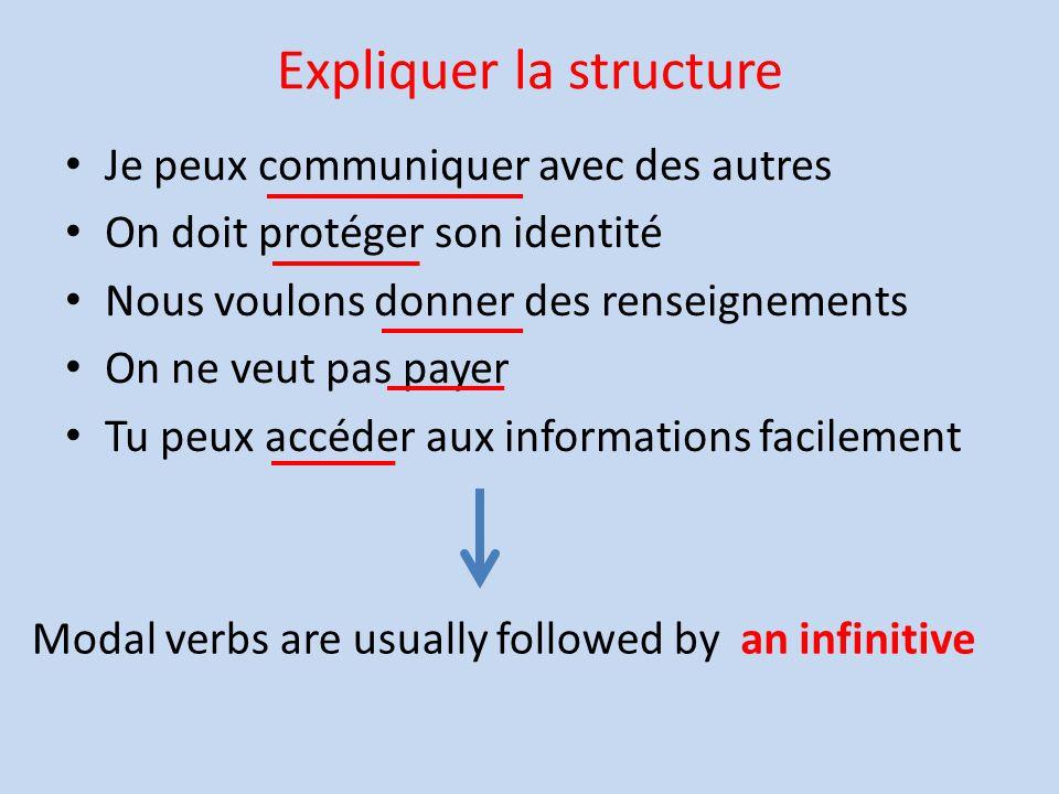 Expliquer la structure
