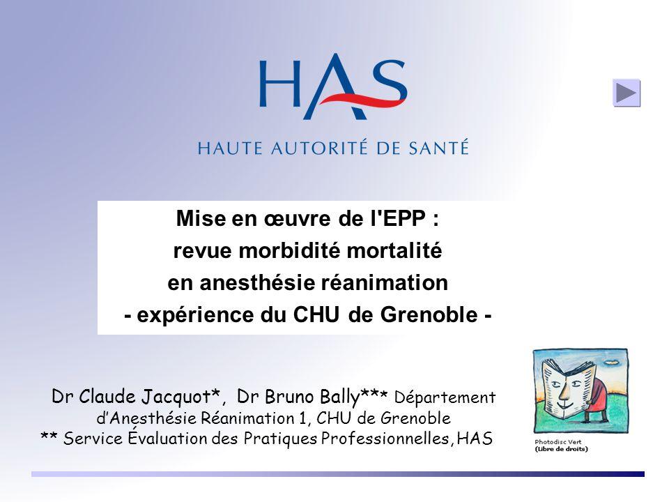 revue morbidité mortalité en anesthésie réanimation