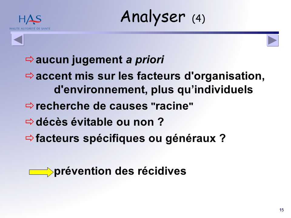 Analyser (4) aucun jugement a priori