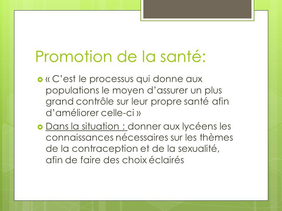 Promotion de la santé: