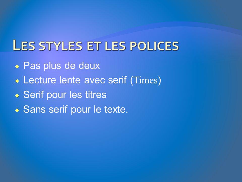 Les styles et les polices