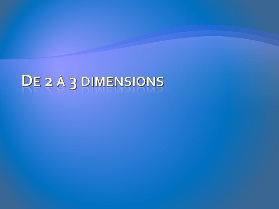 De 2 à 3 dimensions